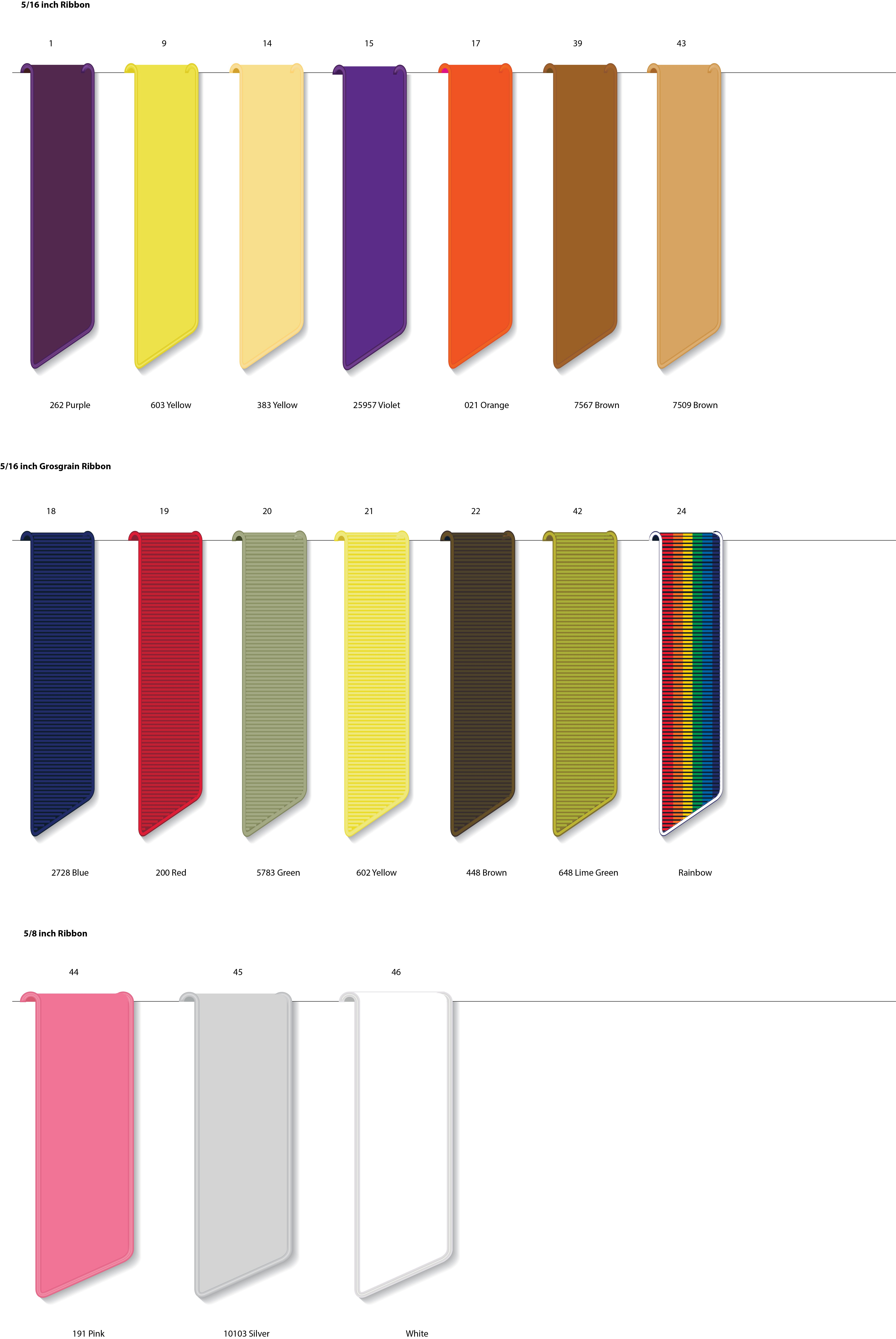 Satin Thicker Book Mark Ribbon Selections